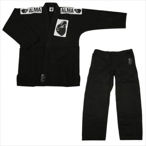 ALMA アルマ レギュラーキモノ 国産柔術衣 A4 黒 上下 JU1-A4-BK  【abt-1223550】【APIs】