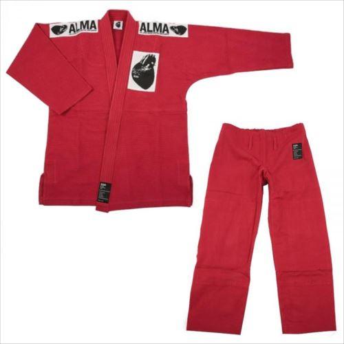 ALMA アルマ レギュラーキモノ 国産柔術衣 A4 赤 上下A JU1-4-RD  【abt-1223552】【APIs】