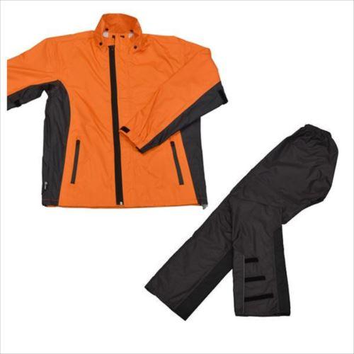 リード工業 LEAD スリムレインスーツ オレンジ 3Lサイズ RW-054D  【abt-1230886】【APIs】