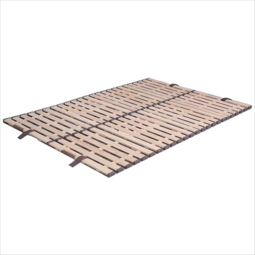 立ち上げ簡単! 軽量桐すのこベッド 4つ折れ式 ダブル KKF-410  【abt-1135924】【APIs】