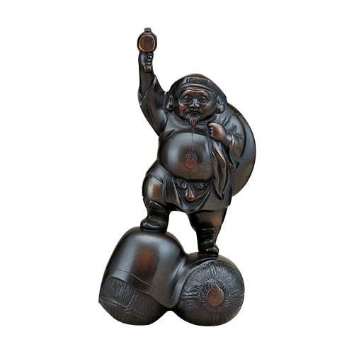 高岡銅器 銅製置物 大黒 10号 39-09  【abt-1528399】【APIs】