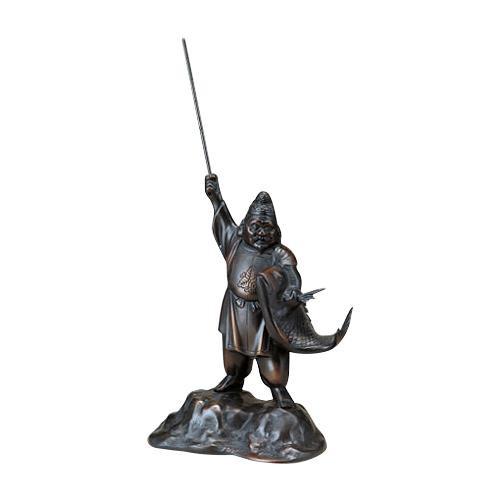 高岡銅器 銅製置物 恵比寿 10号 39-10  【abt-1528400】【APIs】