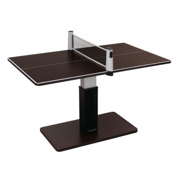 UNIVER ユニバー 昇降式テーブル兼卓球台 ブラウン 専用ネット(レッド×ブラック)付き SHT-1  【abt-1567392】【APIs】