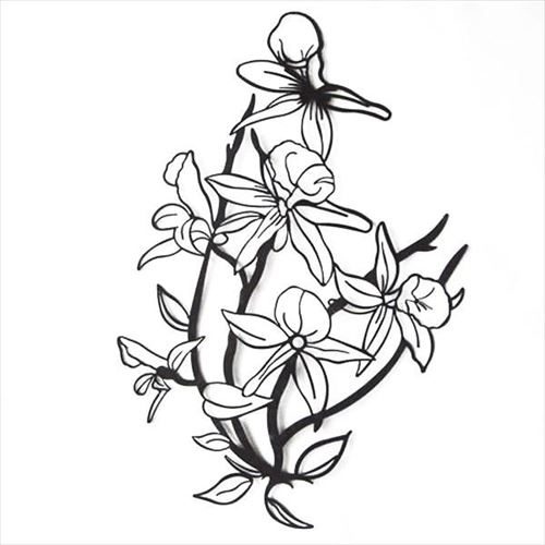 おしゃれなウォールアートです かわ畑 壁飾り ウォールアート 花 売買 1507TSF002 abt-1146658 感謝価格 APIs
