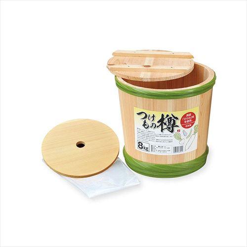 天然素材を使用した木製樽 ヤマコー 漬物樽 8kg用 本物 APIs abt-1161340 89241 新作通販