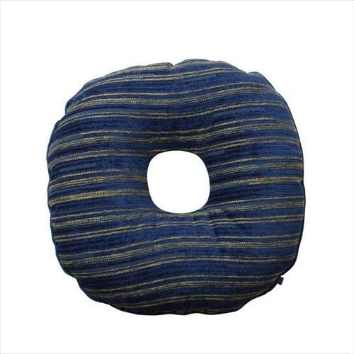 シェニール織の高級感あるクッションです 直送商品 円座クッション エルピス ネイビー APIs 9308469 約40cm丸 買い物 abt-1339723
