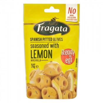 刻んだレモンが爽やかなオリーブです Fragata フラガタ グリーンオリーブ 激安通販専門店 レモン abt-1403966 軽税 APIs 2020A W新作送料無料 70g×8個セット