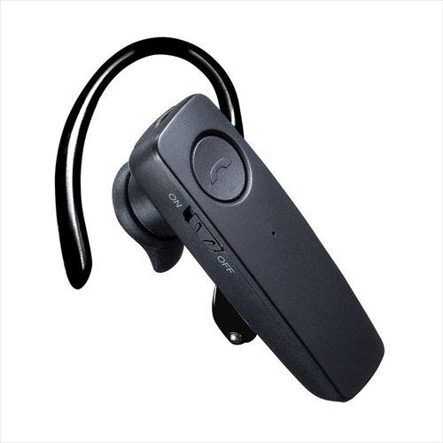 屋外での作業でも使いやすい防水Bluetooth片耳ヘッドセット 選択 サンワサプライ 防水Bluetooth片耳ヘッドセット 出群 MM-BTMH41WBK abt-1451316 APIs
