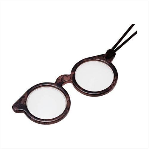 ミニメガネ型のペンダントルーペ 100%品質保証 送料無料 激安 お買い得 キ゛フト ペンダント型ルーペ ミニメガネシリーズ PRT13-4 メローフラワー APIs 072024 abt-1275586