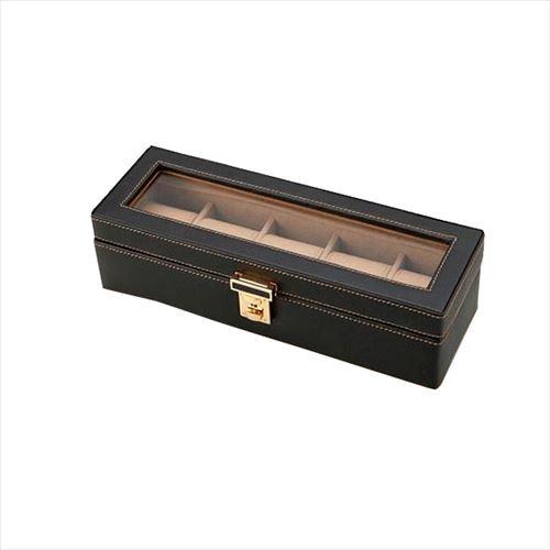 時計をディスプレイ感覚で収納できるウォッチケース 茶谷産業 贈呈 Elementum ウォッチケース 5本用 abt-1118594 お値打ち価格で APIs 240-437