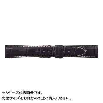 MIMOSA(ミモザ) 時計バンド クロコマット 18mm ネイビー/ホワイトステッチ (美錠:銀) WRM-NW18  【abt-1561289】【APIs】