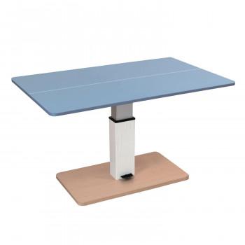 UNIVER ユニバー 昇降式テーブル兼卓球台 ライトブルー×ナチュラル 専用ネット(レッド×ブラック)付き SHT-2  【abt-1567393】【APIs】