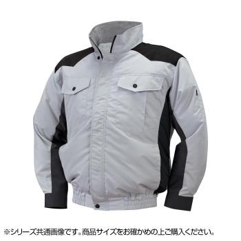 NE-111 空調服 4ファン (服4L) シルバー/ブラック チタン タチエリ 8211039  【abt-1601908】【APIs】