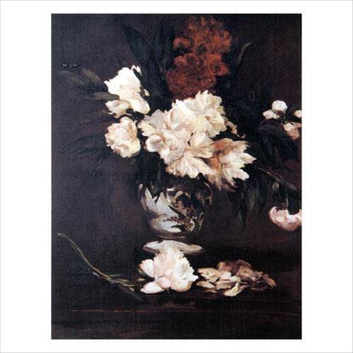 プリハード エドゥアール・マネ 台の上のしゃくやくの花 F3号 額縁A 1260  【yst-1480189】【APIs】