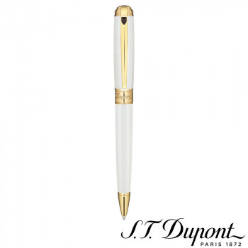 S.T. Dupont エステーデュポン ラインD ボールペン パーリー ラッカー&イエローゴールド 415109M  【yst-1538872】【APIs】