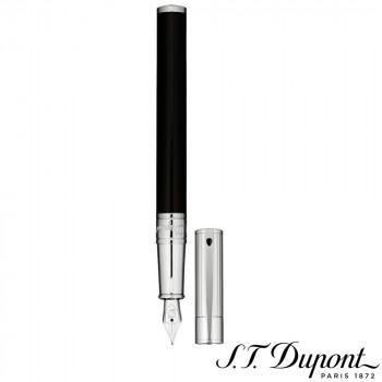 S.T. Dupont エス・テー・デュポン D・イニシャル 万年筆 ブラック&クローム 260204  【yst-1538891】【APIs】