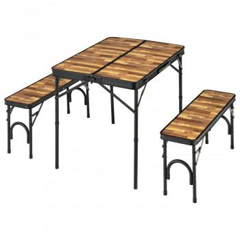 BD-230WB バンドック(BUNDOK) テーブル&ベンチセット (木目)  【yst-1606845】【APIs】