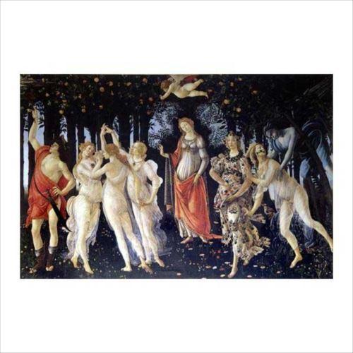 サンドロ・ボッティチェルリの複製画です。 プリハード サンドロ・ボッティチェルリ 春(プリマベーラ) M12号 額縁D 6665  【yst-1480012】【APIs】