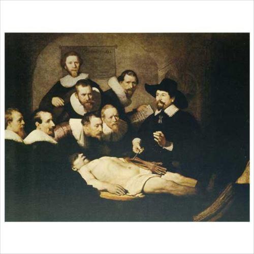 レンブラント・ファン・レインの複製画です。 プリハード レンブラント・ファン・レイン 解剖学講義 F6号 額縁C 3280  【yst-1480026】【APIs】