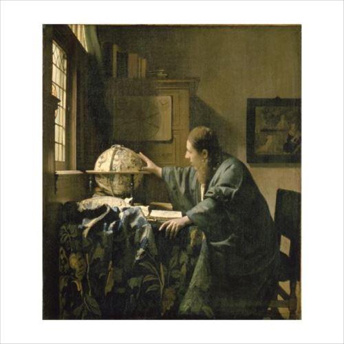 ヨハネス・フェルメールの複製画です。 プリハード ヨハネス・フェルメール 天文学者 F6号 額縁C 3617  【yst-1480056】【APIs】