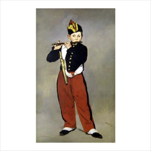 エドゥアール・マネの複製画です。 プリハード エドゥアール・マネ 笛を吹く少年 M8号 額縁C 4634  【yst-1480186】【APIs】