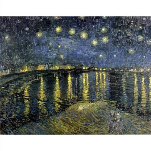 ヴィンセント・ヴァン・ゴッホの複製画です。 プリハード ヴィンセント・ヴァン・ゴッホ 星降る夜、アルル P10号 額縁D 5778  【yst-1480332】【APIs】