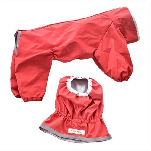 ペットグッズ 犬用品 ドッグウェア レインコート JコートJ レインスヌード付き 普通犬用 赤 4号 1720F001  【yst-1476450】【APIs】
