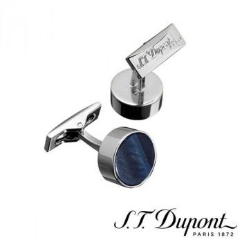 S.T. Dupont エス・テー・デュポン カフリンクス ラウンド パラディウムファルコンアイ 005614  【yst-1538828】【APIs】