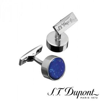 S.T. Dupont エス・テー・デュポン カフリンクス ラウンド パラディウム&ラピスラズリ 005598  【yst-1538832】【APIs】