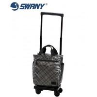 SWANY スワニー ウォーキングバッグ D-233 タルタン シルバーチェック M18 12L・23301  【yst-1015203】【APIs】