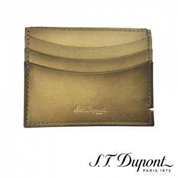 S.T. Dupont エス・テー・デュポン ラインD アトリエ クレジットカードホルダー ブロンズ 190452  【yst-1538753】【APIs】