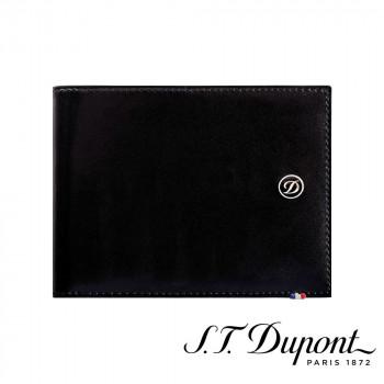 S.T. Dupont エス・テー・デュポン ラインD 2つ折り財布 6CC ブラック 180000  【yst-1538781】【APIs】