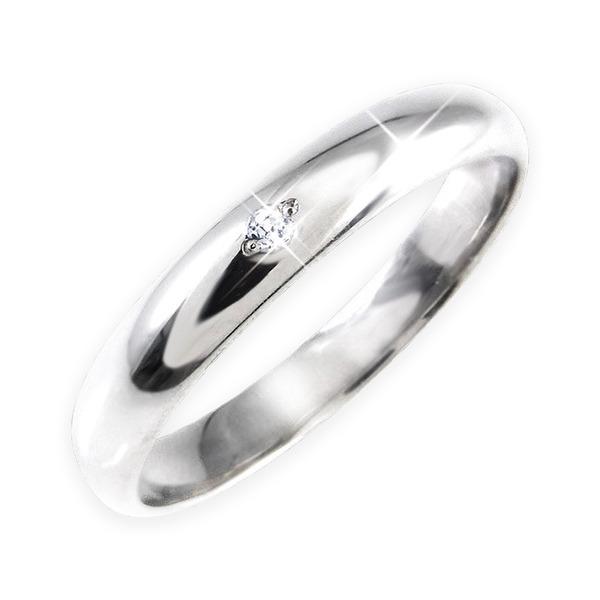 ダイヤリング 指輪 甲丸リング 9号