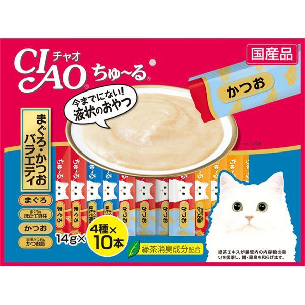 (まとめ)CIAO ちゅ~る まぐろ・かつおバラエティ 14g×40本 (ペット用品・猫フード)【×8セット】