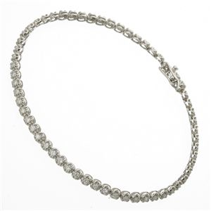 1ctダイヤモンドテニスブレスレット シルバーカラー