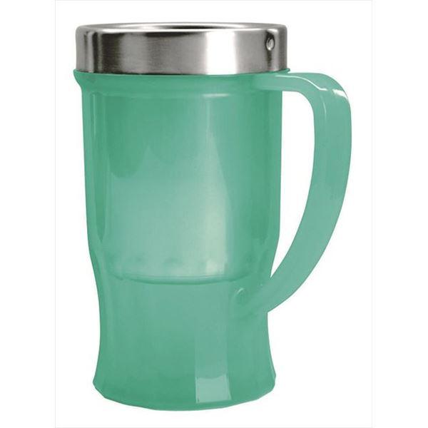 アウトドア 家庭で冷たさ長持ち ビアカップ ビアタンブラーキンキンタンブラー 並行輸入品 タンブラー ビアマグ 日時指定 ビアマグカップ ビアタンブラー ビール キンキンタンブラー 冷 ポリプロピレン 氷冷機能 キッチン用品 ステンレス 約128×93×160mm グリーン