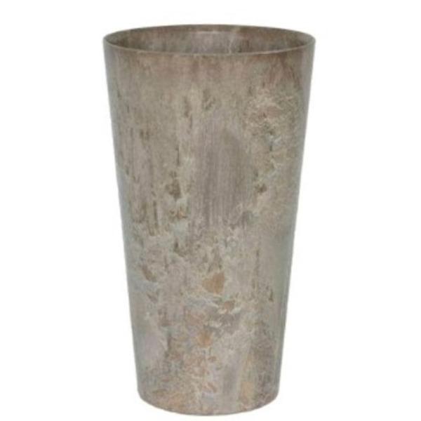 底面給水型 植木鉢/プランター 【トールラウンド型 ベージュ 直径42cm×高さ90cm】 底栓付 『アートストーン』 〔園芸用品〕