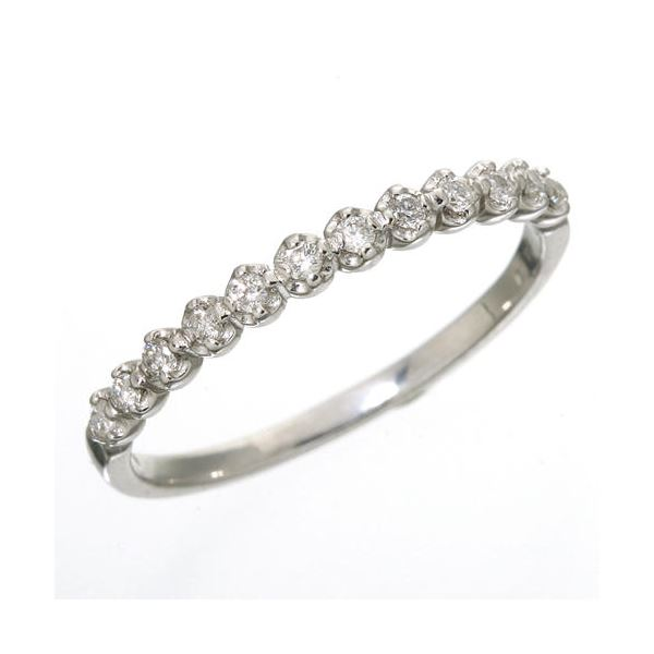 K18 ダイヤハーフエタニティリング ホワイトゴールド 15号 指輪