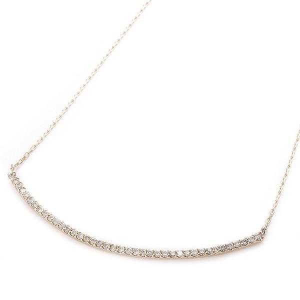 ダイヤモンド ネックレス K10 イエローゴールド 0.2ct 40石 スマイリー ダイヤネックレス ペンダント