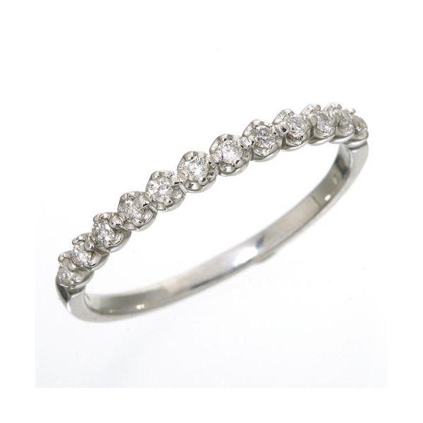 K18 ダイヤハーフエタニティリング ホワイトゴールド 17号 指輪