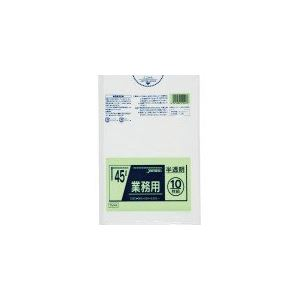 業務用45L 10枚入025LLD+メタロセン半透明 TM44 (60袋×5ケース)300袋セット 38-282