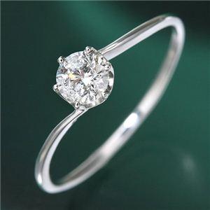 プラチナ0.3ct ダイヤリング 指輪 19号