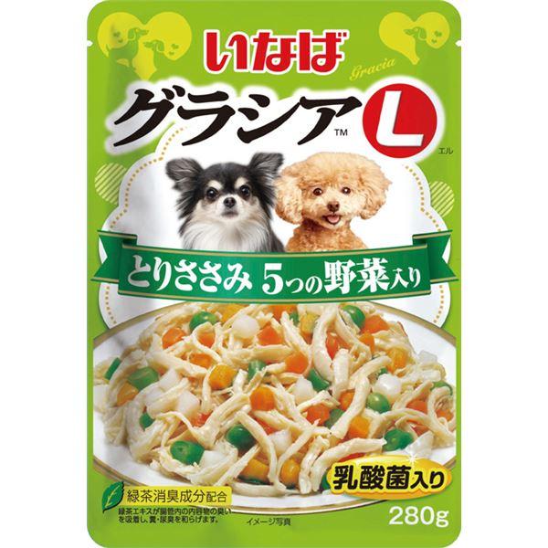 (まとめ)いなば グラシアL とりささみ 5つの野菜入り 280g (ペット用品・犬フード)【×24セット】