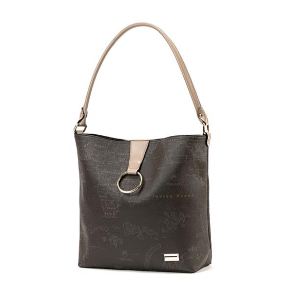 PRIMA CLASSE(プリマクラッセ) 19H-6166 NEWカラーリングポイント付大きめハンドバッグ/チョコレート