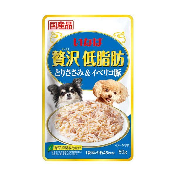 (まとめ)贅沢低脂肪 とりささみ&イベリコ豚 (ペット用品・犬フード)【×96セット】