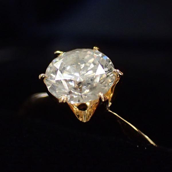 K18イエローゴールド 1 0ct一粒ダイヤリング 指輪鑑別書付き7号BQrCxoeWdE