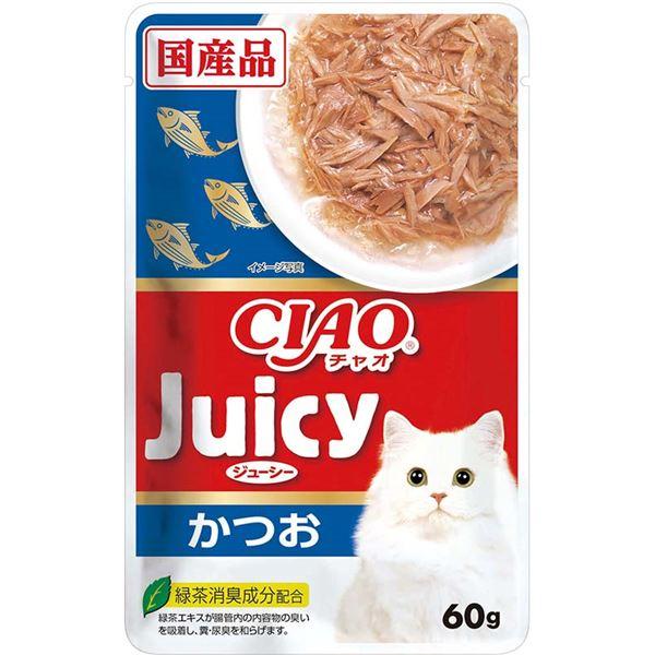(まとめ)CIAO Juicy かつお60g (ペット用品・猫フード)【×96セット】
