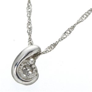 K18シンプルダイヤモンドペンダント/ネックレス