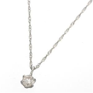 K18ダイヤモンド0.1ctペンダント ホワイトゴールド