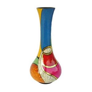 花瓶/フラワーベース 【線がき模様×漆塗り】 木製 FV-H26 〔工芸品 ハンドクラフト インテリア雑貨〕